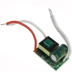 Source de courant constant LED de 7 watts à haut rendement 250 / 280 mA