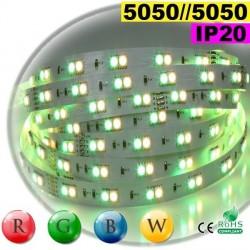 Strip LEDs RGB-WW IP20 - Double assemblage juxtaposer de LEDs 5050 5 mètres