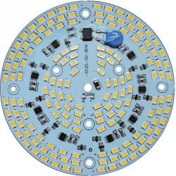Platine AC LED 80 watts à alimentation transistorisé 230V - 156 LED 5730 - Ø 124 mm