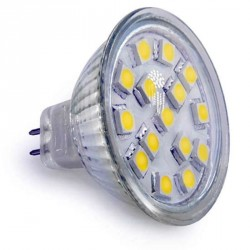 Ampoule 15 leds SMD MR16