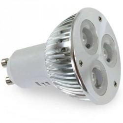 Ampoule 3 leds High power 12 volts culot MR16 GU5.3