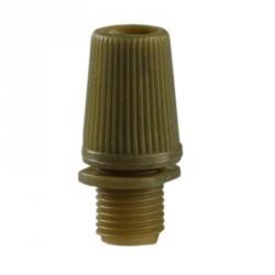 Serre câble électrique en plastique bronze oxyde pour douille de lampe ou rosace de plafond en filetage M10.