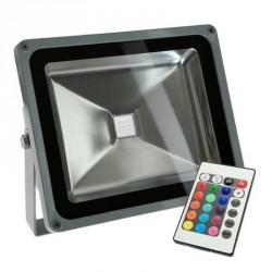 Projecteur LED standard RVB 30 Watts + télécommande IR