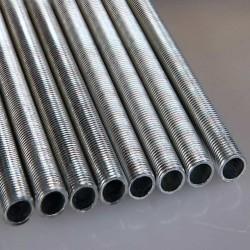 Tube fileté M10 longueur de 100cm un accessoire pour douilles d'ampoules