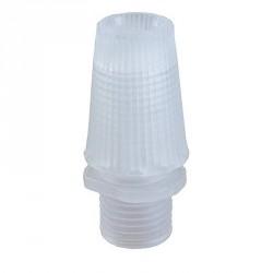 Serre câble électrique en plastique transparent pour douille de lampe ou rosace de plafond en filetage M10.