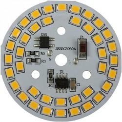 Platine AC LED 12 watts à alimentation transistorisé 230V - 82 LED 2835 - Ø 70 mm