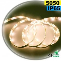 Strip 30 LEDS Blanc Chaud Leger rouleau flexible autocollant de 5m