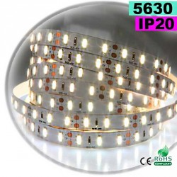 Strip Led blanc chaud leger SMD 5630 IP20 60leds/m 5m