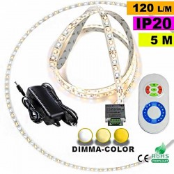 Pack Strip Led sur mesure Dimma Color 3528 ip20 120 leds