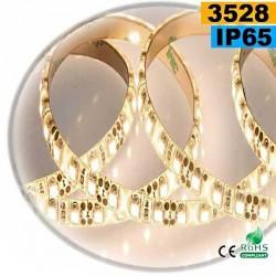 Strip Led blanc chaud leger SMD 3528 IP65 120leds/m 30 mètres