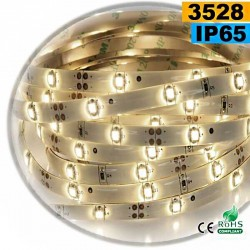 Strip Led blanc chaud leger SMD 3528 IP65 30leds/m sur mesure