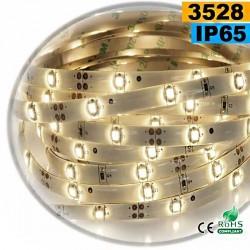 Strip Led blanc chaud leger SMD 3528 IP65 30leds/m 30m