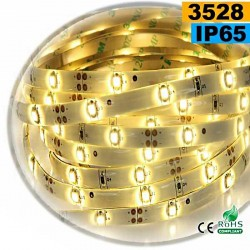 Strip Led blanc chaud SMD 3528 IP65 30leds/m 5m