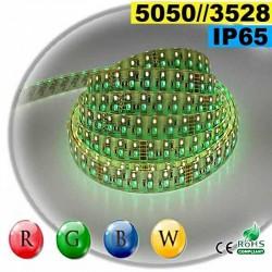 Strip LEDs RGB-WW IP65 - Double assemblage de LEDs 5050 et 3528 sur mesure