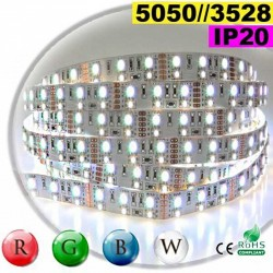 Strip LEDs RGB-W IP20 - Double assemblage de LEDs 5050 et 3528 sur mesure