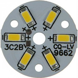 Platine 6 LEDS 5730 de 3 Watts Ø32mm