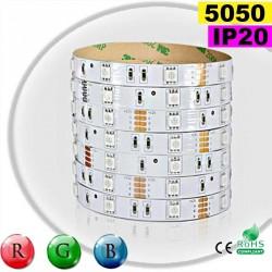 Strip Led RGB SMD 5050 IP20 30leds/m rouleau sur mesure