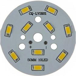 Platine 10 LEDS 5730 de 5 Watts Ø50mm