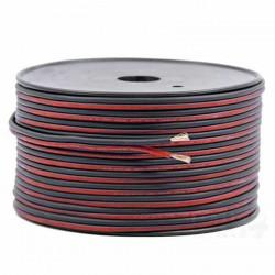 Fil élèctrique plat rouge noir 2 fils 0.75mm² longueur de 1m