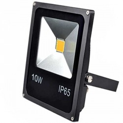 Projecteur Thin LED Mode Noir 10 watts