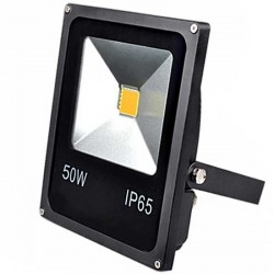 Projecteur Thin LED Mode Noir 50 watts