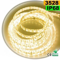 Strip Led blanc chaud SMD 3528 IP68 60leds/m 5m