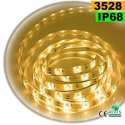 Strip Led blanc chaud SMD 3528 IP68 30leds/m 5m