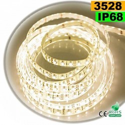 Strip Led blanc chaud leger SMD 3528 IP68 60leds/m 5m