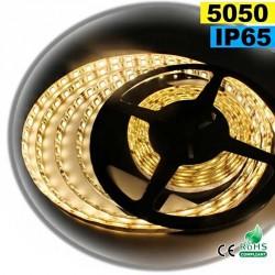 Strip Led blanc chaud SMD 5050 IP65 60leds/m 30m