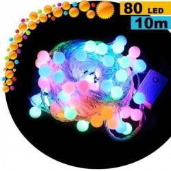 Guirlande cerise LED multicolore - 10 mètres