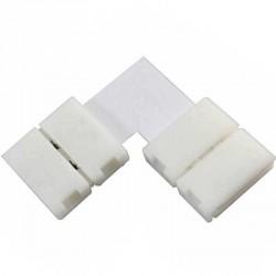 Boitier Clips-connect 90° pour Strip LEDs 8mm - Circuit board à 2 pistes entraxe 4.5mm