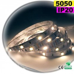 Strip LED blanc SMD 5050 IP20 30leds/m