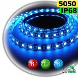 Strip Led RGB SMD 5050 IP68 60leds/m rouleau de 5 mètres