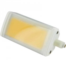 Ampoule R7s 10 watts dimmable compact LED COB 118mm avec diffuseur milk