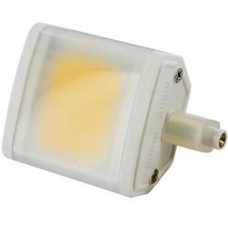 Ampoule R7s 6 watts compact LED COB 78mm avec diffuseur milk