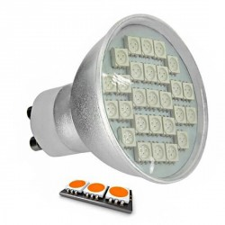 Ampoule LED 27 SMD TYPE 5050 ORANGE GU10