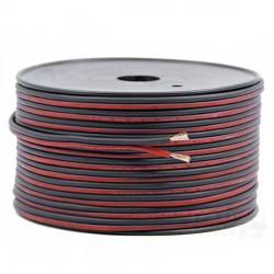Cable électrique plat rouge noir 2 fils 0.5mm² longueur de 1m
