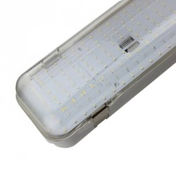 Luminaire étanche Niha LED 50 watts 1.2m diffuseur transparent