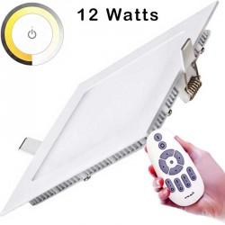 Dalle Templat LED carrée de 12 watts elle permet d'ajuster la température de couleur