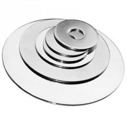 Rondelle chromée M10 épaisseur 1mm diamètre 30-200mm