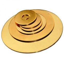 Rondelle chromée couleur chrome OR épaisseur 1mm diamètre 30-200mm