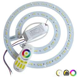 Circline LED RGB W 36 watts 96 LED 5730 + 24 LED de couleur RGB - diamètre 330 mm
