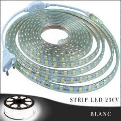 Strip LED 230 volts blanc vendu au mètre linéaire