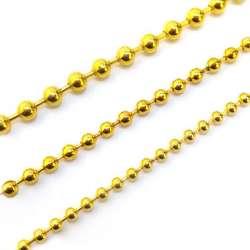Chaine maille boule métal doré en diamètre 6mm - vendu au mètre linéaire