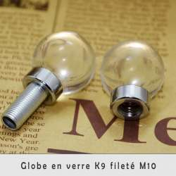 Luminaire globe cristal K9 filetage M10
