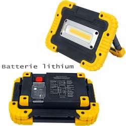 Projecteur sur batterie 10 watts LED COB