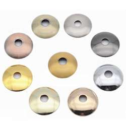 Rondelle bombée Ø 70mm couleur pour luminaire / douille de lampe filetée M10