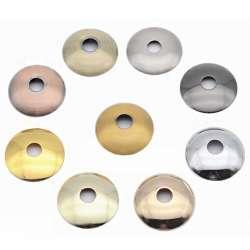 Rondelle bombée Ø 80mm couleur pour luminaire / douille de lampe filetée M10
