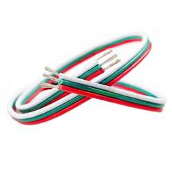 Cable électrique plat trois couleurs de 0.3mm² longueur de 1m