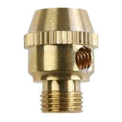 Serre câble électrique en laiton M10 moleté avec vis de bloquage M6